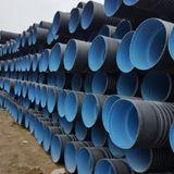 黑色螺旋波纹排污管道 大口径波纹排污管 200-800mm外黑内蓝波纹排水管