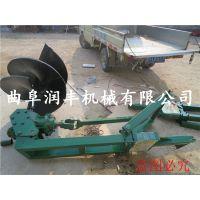 宁夏土地钻坑机 润丰 汽油挖坑机价格 打坑钻孔机