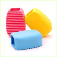 居家日用手握式加厚硅胶洗衣刷迷你洗衣板小号搓板硅胶手拿搓衣板