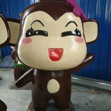 郑州玻璃钢生产厂家热销款仿真猴雕塑树脂纤维彩绘卡通猴