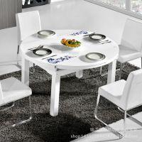 厂家直销餐桌 不锈钢钢化玻璃餐桌椅餐厅板式家具2015爆款