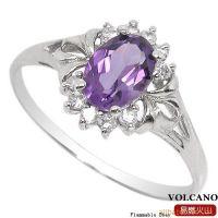 水晶首饰 加盟代理 天然紫水晶戒指 一件代发货 SR0230A