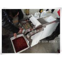 河南客户来厂 试切干辣椒切段机 切辣椒机器