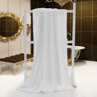 亿嘉禾厂家生产21股纯棉浴巾白色 500g星级酒店高档浴巾 加厚吸水