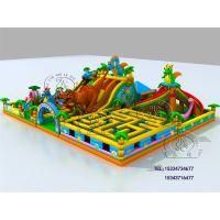 崇礼平泉县充气城堡 广场大型充气城堡新款式——恐龙充气城堡