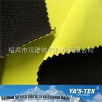 涤纶平纹四面弹复合格子摇粒绒 防水透气TPU 软壳面料