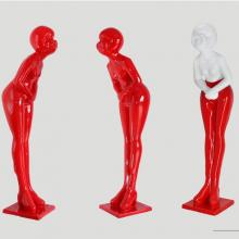 KTV迎宾雕塑玻璃钢纤维招财红人模型树脂抽象咨客酒店餐厅摆件