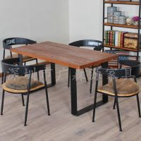 广森源金属餐椅组合4人古典简约餐厅咖啡馆桌椅子