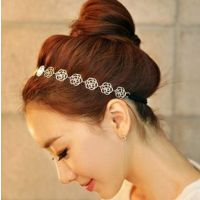 SNN-854 复古时尚百搭镂空玫瑰花朵发带发箍头箍