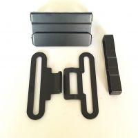 战术男士腰带调节长短扣 58MM介子 户外用品腰带黑色尾部对扣