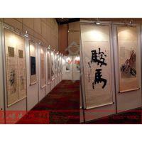 上海八棱柱金属挂画展板出租,书画摄影板搭建,拍卖会画展板租赁