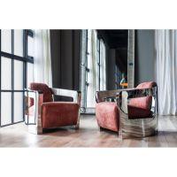 米乐不锈钢现代火星椅 不锈钢支架