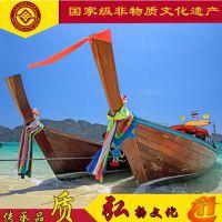 供应泰国长尾船 欧式风情休闲观光旅游船 仿古木船服务类船