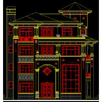 地中海风格多卧室别致三层别墅设计户型图+效果图16.1x19.1米