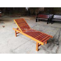 楚工供应沙滩椅折叠沙滩椅木制躺椅厂家