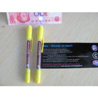 英盛星厂家定制 高档双面印刷广告宣传签字拉画笔 塑料插套中性拉杆拉纸赠品笔