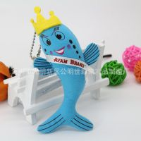 新款 创意美人鱼手机挂件 沙丁鱼挂件 卡通饰品定制