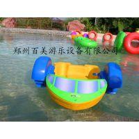 河南郑州订购充气水池游泳池水上手摇船我们厂家都有生产