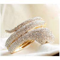 蛇形手镯 中国风吉祥物  时尚 镀真金铜手镯  女款手镯