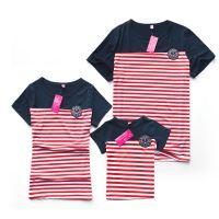 新款亲子装夏装新款一家三口全家T恤家庭装批发