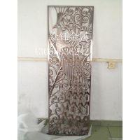 厂家直销铝板雕刻红古铜工艺屏风