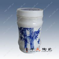 供应景德镇陶瓷骨灰罐价格优惠千火陶瓷