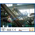 Adjustable Speed Clapboard Elevator Fruit Processing Plants With Stainless Steel / Plastic