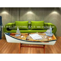 楚风木船出售大型景观装饰船木质茶几服务类船