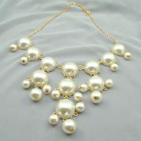 JC013 Ebay速卖通货源 欧美夸张 珍珠荧光泡泡项链 外贸衣饰批发