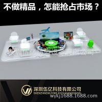 厂家批发oppo华为三星 1.2米手机玻璃柜台亚克力透明组合托盘