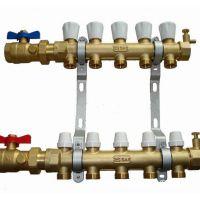 地暖专用手动温控分水器 电镀双阀