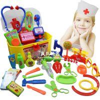 女孩男孩过家家玩具 儿童医生套装 仿真听诊器医药箱工具玩具