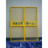 厂家生产-武汉电梯防护门,钢板网防护门,工地菱形防护门