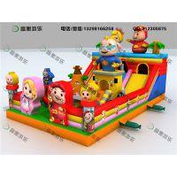 大型充气儿童玩具多少钱 儿童游乐气垫 充气弹跳床尽在郑州富衡