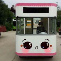 凯信小吃车房车电动四轮多功能早餐烧烤车冷饮奶茶咖啡车