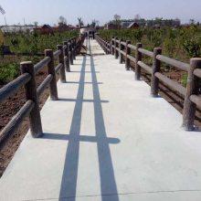 景区栈道彩色水泥栏杆 环保水泥艺术栏杆施工 四川驰升厂家直销