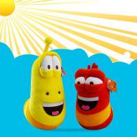 韩国larva毛绒玩具正版爆笑虫子红色9寸公仔玩偶厂家代理现货批发