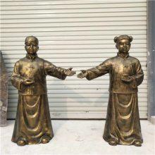 俱乐部鞠躬红人雕塑彩绘迎宾人玻璃钢服务员雕像KTV摆件豪晋厂家直供
