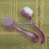 T126批发美甲用品 透明水晶塑料柄指甲刷/清洁刷 粉尘刷/刷子