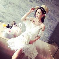 小银子2015夏装新款小清新好品质蕾丝吊带连衣裙G
