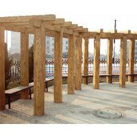 青城艺景|藤架|仿腐木廊架|葡萄藤架|定制廊架|庭院装饰廊架