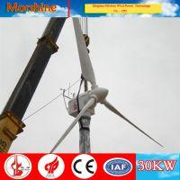 30KW小中型微风变桨矩高性能永磁交流直驱家用工业用风力发电机组