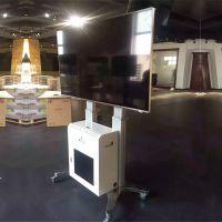 NB55-70寸AVG1800-70-1P视频会议移动电视架落地支架机箱终端推车