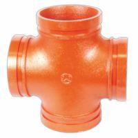 批发水暖管件  沟槽管件正四通