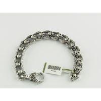 钛钢仿古手链生产 不锈钢钛磁能保健手镯定做 手环 纯银 情侣