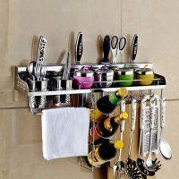 304不锈钢厨房刀架 厨房置物架 壁挂收纳调料刀架用品用具