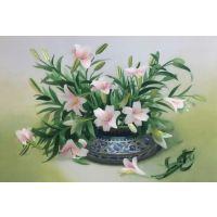 广东刺绣图案,手工刺绣插花瓶图案,圣绣坊作品图