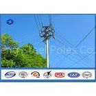 HDG Electrical Transmission Line Steel Utility Pole for Africa Power Distribution