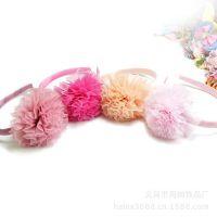 速卖通热卖货源 义乌厂家专业工艺 韩版蕾丝大花朵发箍发带批发