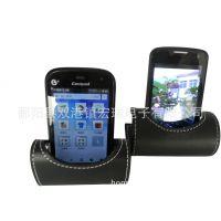 热销HR96018简单便利PU皮革手机座